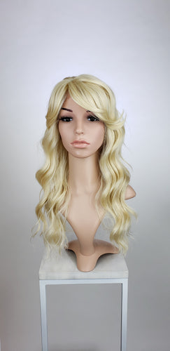 Blonde Long Wavy with Bangs Lace Front Wig - Duchess Series LDTEA44