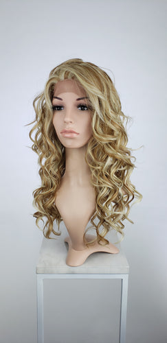 Strawberry Blonde Mix Long Curly Lace Front Wig - Lady Series LLVOG34