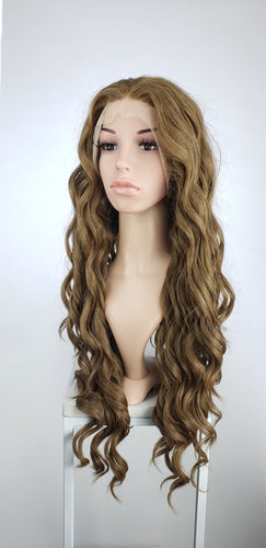 Chestnut Brown Long Curly Lace Front Wig - Queen Series LQ010
