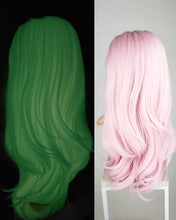 Glow in the Dark Pink Long Straight Lace Front Wig - Princess Series LPSKY48