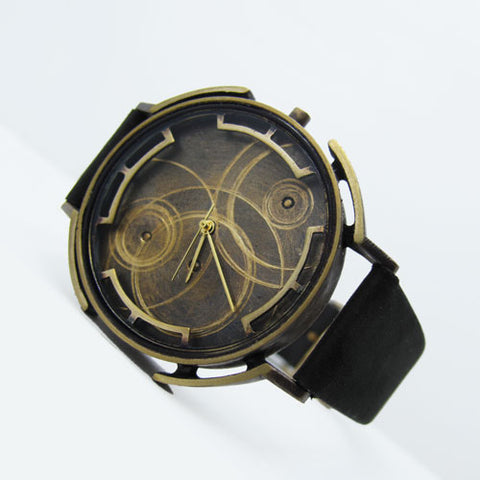 handmade bronze watch wristwatch unisex men's fashion