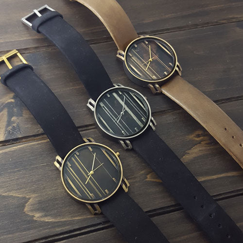 Bronze/Black Linear Watch