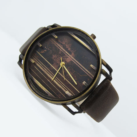 handmade bronze quartz watch wristwatch unisex men's fashion accessories