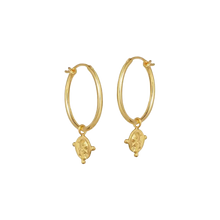 GOLD PLATED COIN HOOPS