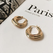 GOLD PLATED RUSTIC HOOPS