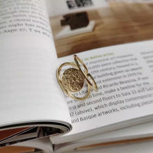 AQUA GOLD PLATED RING