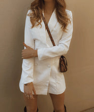 WHITE blazer dress