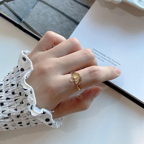 GOLD PLATED SUN RING