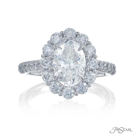 0127-007 | Diamond Engagement Ring 2.03 ct Oval Cut GIA certified Front View