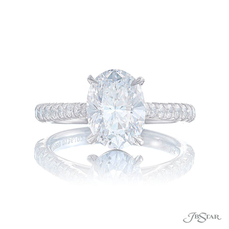0136-022 | Diamond Engagement Ring 2.43 ct. GIA Certified Oval Cut Front View