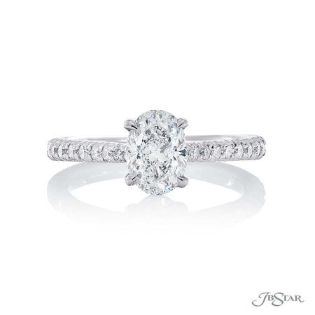 Platinum Oval Diamond Engagement Ring 1.01ct, 0137-004