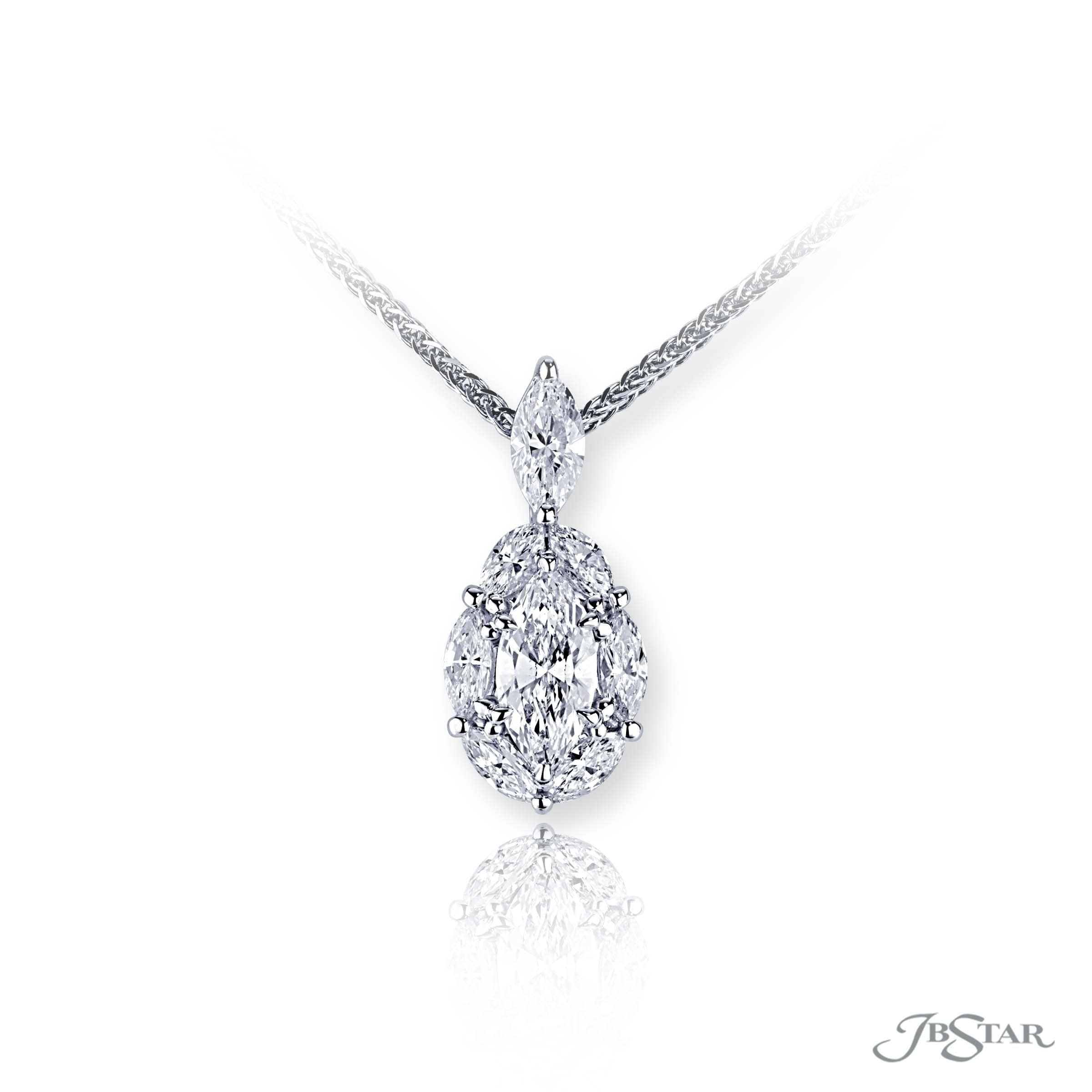 jb products pendant marquise star diamond