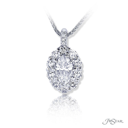 0163-002 | Diamond Pendant Marquise Cut 0.74 ct. GIA certified