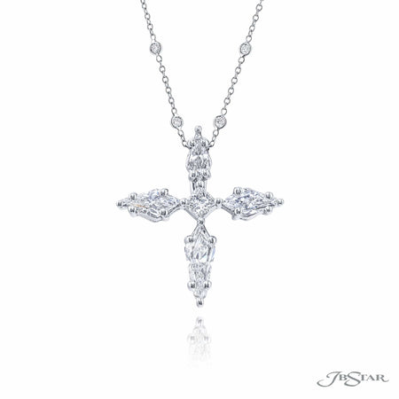 0244-001 | Cross Pendant Diamond 0.83 ctw. Kite & Princess-Cut