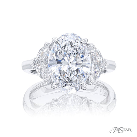0283-025 | Diamond Engagement Ring 3.91 ct. Oval GIA Certified Front View