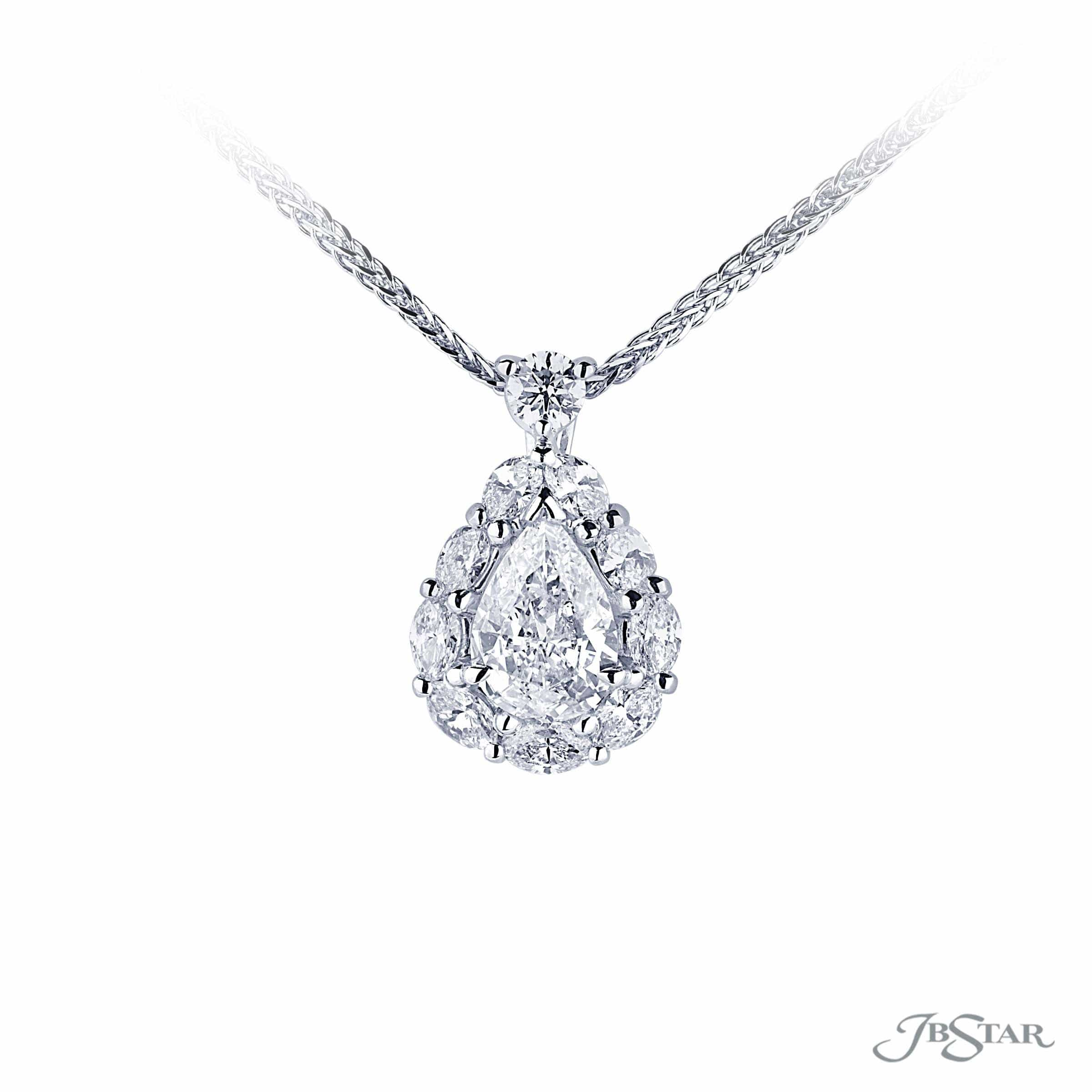 cluster necklace pear carat pendant product for diamond shape solitaire shaped women