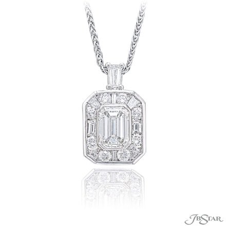 0518-009 | Diamond Pendant 1.08 ct Emerald Cut GIA Certified