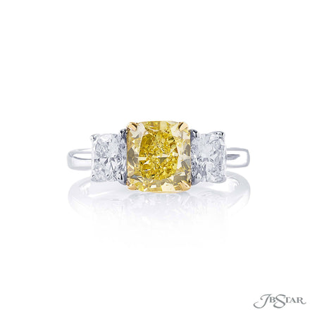 JB Star 0585-005 Diamond Engagement Ring 1.56 ct Cushion Cut Yellow