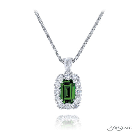 0702-011 |  Emerald Emerald-Cut Pendant Necklace 1.20 ct.