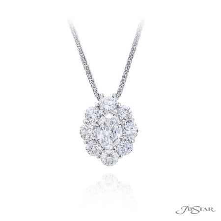 0819-030 | Diamond Pendant 1.00 ct. Oval Encircled Design Certified