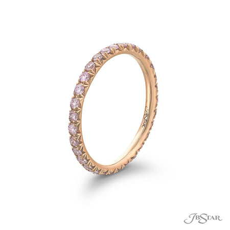 0893-206 | Pink Diamond Eternity Band 0.70 ctw. 18K Pink Gold Side View