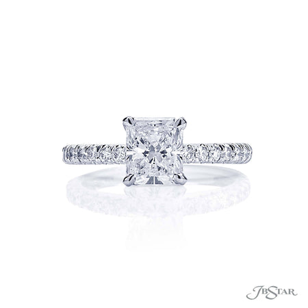 0896-147 1.20 ct Radiant Cut Diamond Engagement Ring Micro Pave