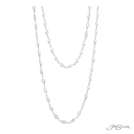 0937-001 | Diamond Necklace Marquise Bezel Set 30.21 ctw.