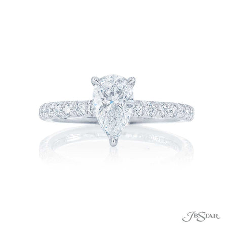 Pear Shaped Diamond Engagement Ring 0.90 ct. 0949-089