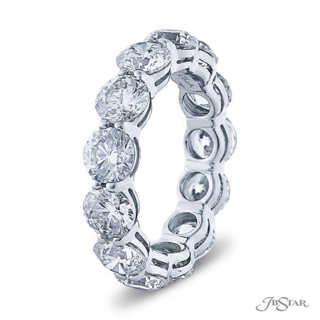 Platinum Eternity Band 13 Round Diamonds 6.81 ctw. 0998-012
