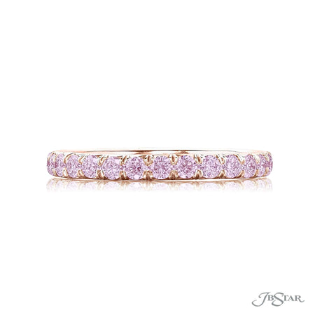 Pink Diamond Eternity Band in 18K Pink Gold | 1046-141 Side View