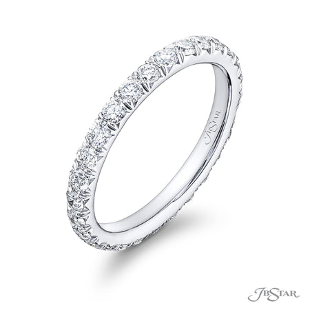 1046-110 | Diamond Eternity Band Round Micro Pave 1.03 ctw Side View