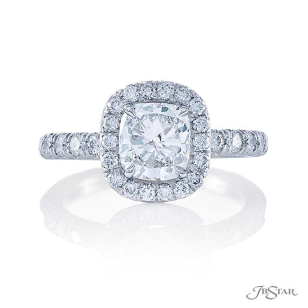 1061-148 Cushion 1.26 ct. diamond micro pave engagement ring