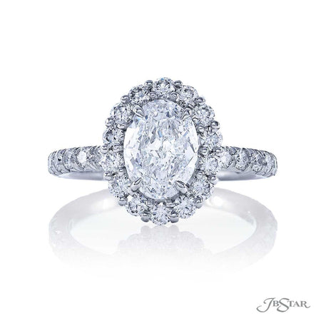 1.36 ct. Oval diamond engagement ring micro pave halo and band 1081-007