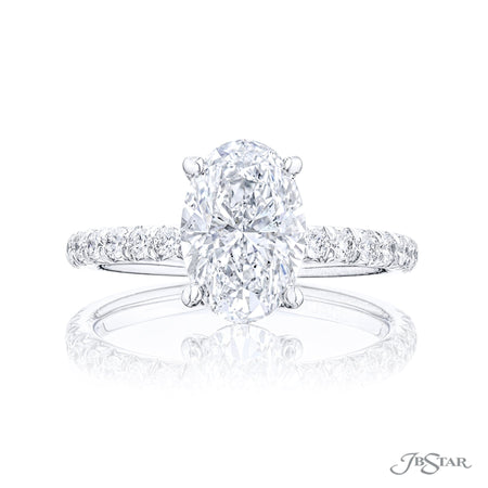 1081-012 | Diamond Engagement Ring 2.15 ct. GIA certified Oval Cut Front View