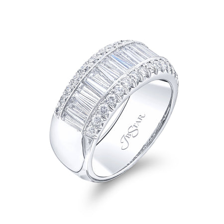 1150-004 | Diamond Wedding Band Tapered Baguette 1.46 ctw Channel-Set Side View
