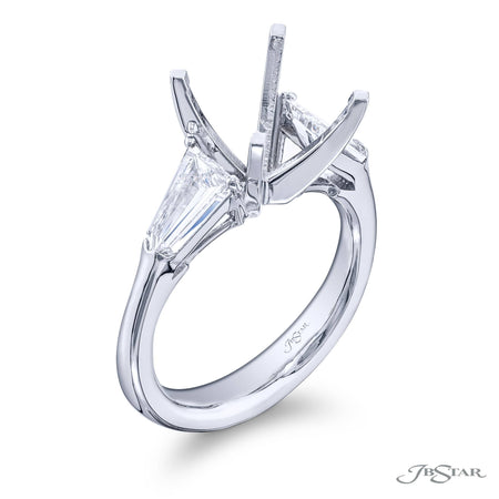 Platinum 3.04 ct Radiant Cut Diamond Engagement Ring with side diamonds
