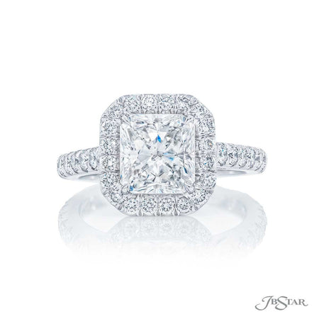 2.01 ct Radiant Cut Halo Diamond Engagement Ring, 1224-007