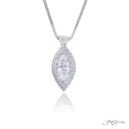1265-003 | Diamond Pendant 0.75 ct. GIA certified Marquise Pave