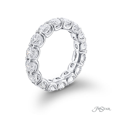 1407-026-Round Diamond Eternity Band 16 Stones Shared Prong  side view