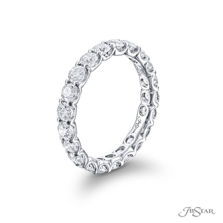 1426-004-Eternity Band 21 Round Diamonds Shared Prong Setting side view