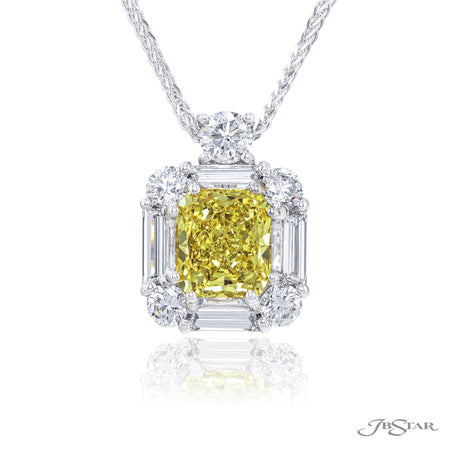 1621-010 | Fancy Yellow Diamond Pendant Radiant-Cut 2.16 ct. GIA
