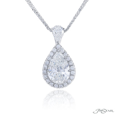 1631-115 | Diamond Pendant 2.56 ct. GIA Certified Pear-Shaped Pave