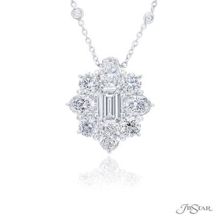 1647-004 | Diamond Pendant 1.22 ct. GIA certified Emerald Cut