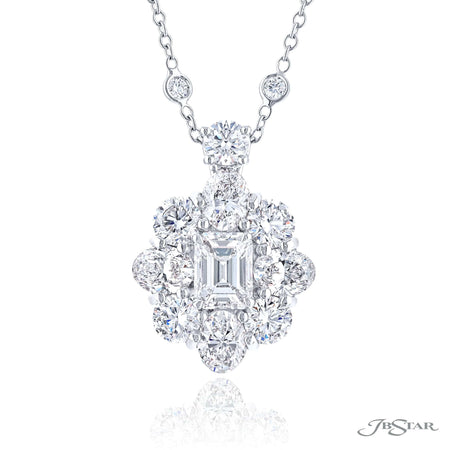 1647-009 | Diamond Pendant 1.20 ct. GIA Certified Emerald-Cut