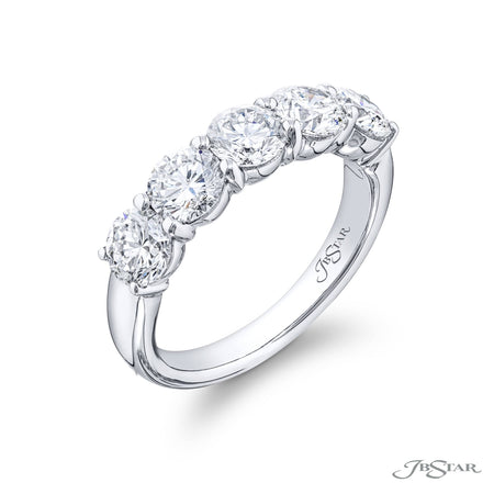 1674-012 | Diamond Wedding Band Round 2.27 ctw. Shared Prong Setting Side View