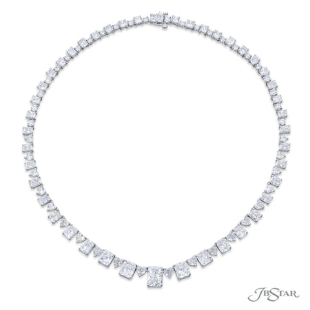 1730-008 | Diamond Necklace 3.18 ct. Certified Radiant-Cut