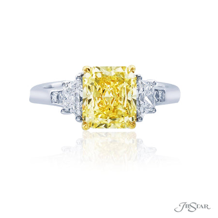 2.30 ct Yellow Radiant Diamond Engagement Ring