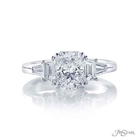 1.52 ct Radiant Cut Diamond Engagement Ring