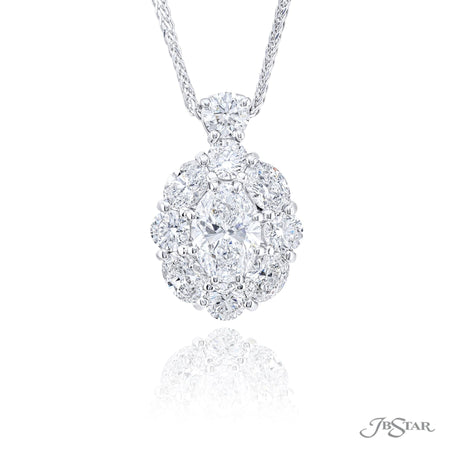 2366-013 | Diamond Pendant Oval Cut 1.20 ct. GIA certified SI2 Clarity