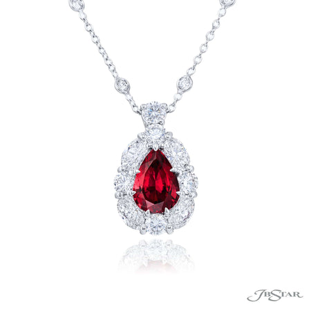 2366-020 | Ruby & Diamond Pendant Pear-Shaped 2.09 ct.